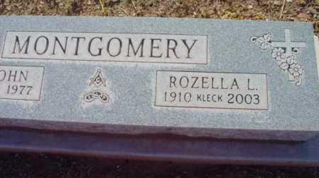 MONTGOMERY, ROZELLA L. - Yavapai County, Arizona | ROZELLA L. MONTGOMERY - Arizona Gravestone Photos