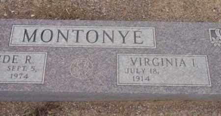 MONTONYE, VIRGINIA IRENE - Yavapai County, Arizona | VIRGINIA IRENE MONTONYE - Arizona Gravestone Photos