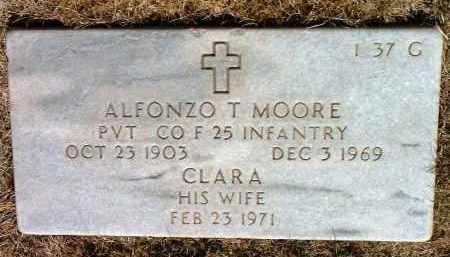 MOORE, ALFONZO T. - Yavapai County, Arizona | ALFONZO T. MOORE - Arizona Gravestone Photos