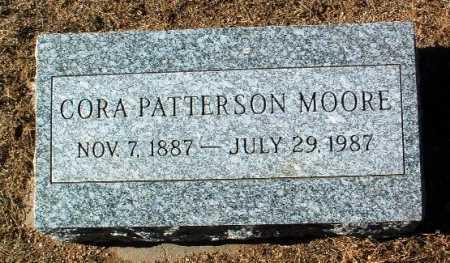 PATTERSON MOORE, CORA - Yavapai County, Arizona | CORA PATTERSON MOORE - Arizona Gravestone Photos