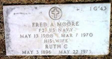 MOORE, FRED A. - Yavapai County, Arizona   FRED A. MOORE - Arizona Gravestone Photos
