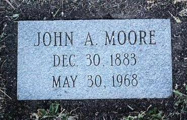 MOORE, JOHN A. - Yavapai County, Arizona | JOHN A. MOORE - Arizona Gravestone Photos