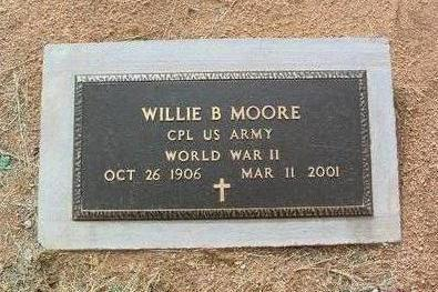 MOORE, WILLIE B. - Yavapai County, Arizona | WILLIE B. MOORE - Arizona Gravestone Photos