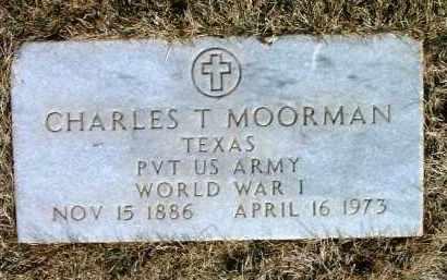 MOORMAN, CHARLES T. - Yavapai County, Arizona   CHARLES T. MOORMAN - Arizona Gravestone Photos