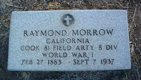MORROW, RAYMOND - Yavapai County, Arizona   RAYMOND MORROW - Arizona Gravestone Photos