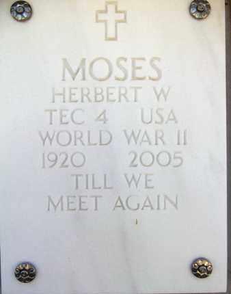 MOSES, HERBERT W. - Yavapai County, Arizona   HERBERT W. MOSES - Arizona Gravestone Photos