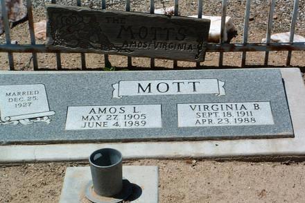 MOTT, VIRGINIA BEATRICE - Yavapai County, Arizona | VIRGINIA BEATRICE MOTT - Arizona Gravestone Photos