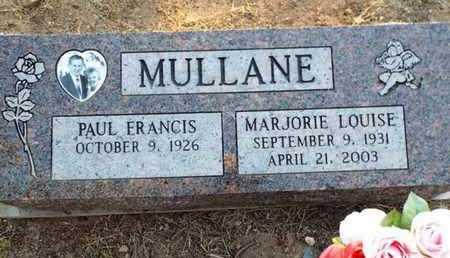 MULLANE, MARJORIE LOUISE - Yavapai County, Arizona | MARJORIE LOUISE MULLANE - Arizona Gravestone Photos