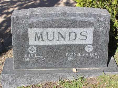 WILLARD MUNDS, FRANCES - Yavapai County, Arizona | FRANCES WILLARD MUNDS - Arizona Gravestone Photos