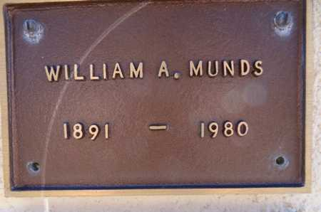 MUNDS, WILLIAM ALDELBERT - Yavapai County, Arizona | WILLIAM ALDELBERT MUNDS - Arizona Gravestone Photos