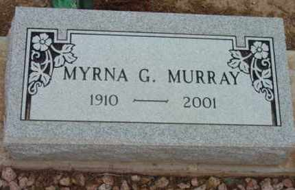MURRAY, MYRNA G. - Yavapai County, Arizona | MYRNA G. MURRAY - Arizona Gravestone Photos