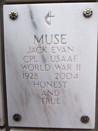 MUSE, JACK EVAN - Yavapai County, Arizona | JACK EVAN MUSE - Arizona Gravestone Photos