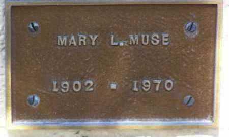 MUSE, MARY L. - Yavapai County, Arizona | MARY L. MUSE - Arizona Gravestone Photos
