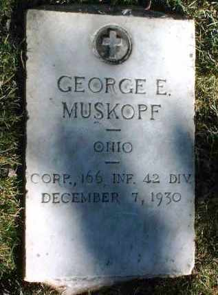 MUSKOPF, GEORGE ELWOOD - Yavapai County, Arizona | GEORGE ELWOOD MUSKOPF - Arizona Gravestone Photos