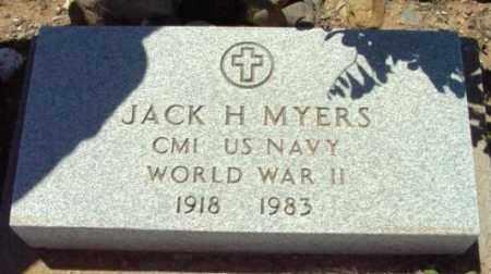 MYERS, JACK H. - Yavapai County, Arizona | JACK H. MYERS - Arizona Gravestone Photos