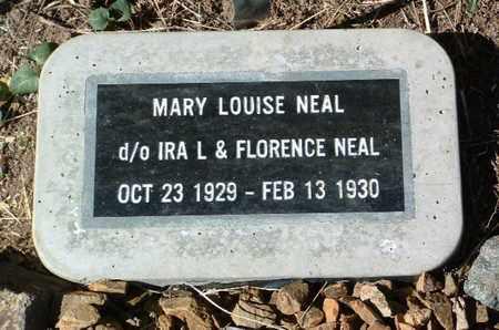 NEAL, MARY LOUISE - Yavapai County, Arizona | MARY LOUISE NEAL - Arizona Gravestone Photos