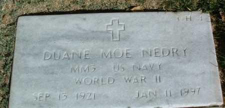 NEDRY, DUANE MOE - Yavapai County, Arizona | DUANE MOE NEDRY - Arizona Gravestone Photos