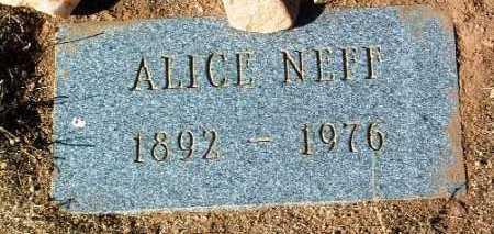 NEFF, ALICE - Yavapai County, Arizona | ALICE NEFF - Arizona Gravestone Photos