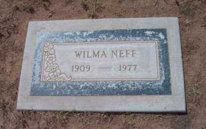 NEFF, MARIAN WILMA - Yavapai County, Arizona   MARIAN WILMA NEFF - Arizona Gravestone Photos