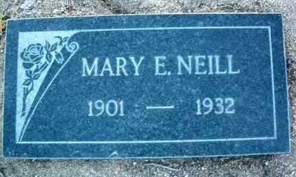 NEILL, MARY E. - Yavapai County, Arizona | MARY E. NEILL - Arizona Gravestone Photos