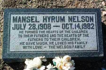 NELSON, MANSEL HYRUM - Yavapai County, Arizona   MANSEL HYRUM NELSON - Arizona Gravestone Photos