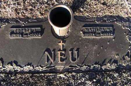 NEU, GEORGE JOSEPH - Yavapai County, Arizona | GEORGE JOSEPH NEU - Arizona Gravestone Photos