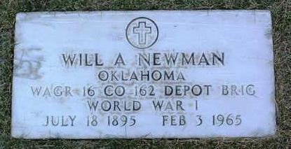 NEWMAN, WILL  A. - Yavapai County, Arizona | WILL  A. NEWMAN - Arizona Gravestone Photos