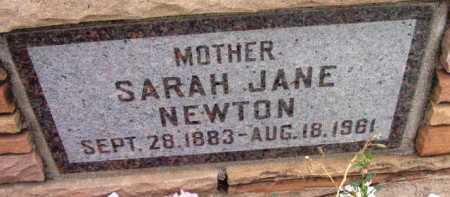 BETTIS NEWTON, SARAH JANE - Yavapai County, Arizona | SARAH JANE BETTIS NEWTON - Arizona Gravestone Photos
