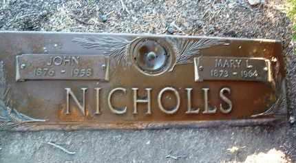 NICHOLLS, JOHN - Yavapai County, Arizona | JOHN NICHOLLS - Arizona Gravestone Photos