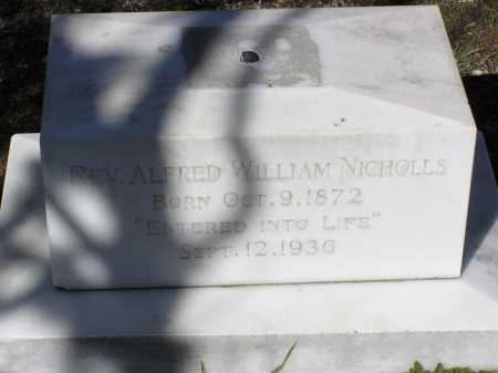 NICHOLLS, ALFRED WILLIAM - Yavapai County, Arizona | ALFRED WILLIAM NICHOLLS - Arizona Gravestone Photos