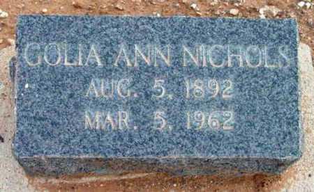 NICHOLS, GOLIA ANN - Yavapai County, Arizona | GOLIA ANN NICHOLS - Arizona Gravestone Photos
