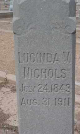 NICHOLS, LUCINDA VALENTINE - Yavapai County, Arizona | LUCINDA VALENTINE NICHOLS - Arizona Gravestone Photos