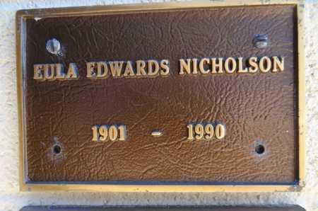 NICHOLSON, EULA - Yavapai County, Arizona | EULA NICHOLSON - Arizona Gravestone Photos