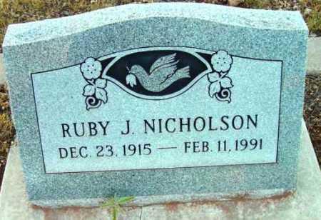 NICHOLSON, RUBY J. - Yavapai County, Arizona | RUBY J. NICHOLSON - Arizona Gravestone Photos
