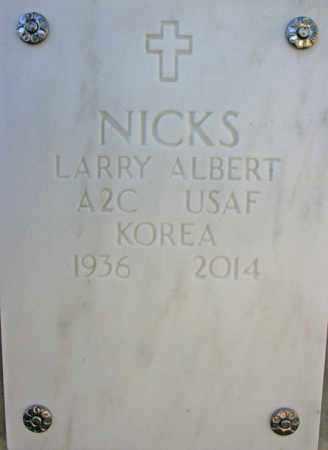 NICKS, LARRY ALBERT - Yavapai County, Arizona | LARRY ALBERT NICKS - Arizona Gravestone Photos