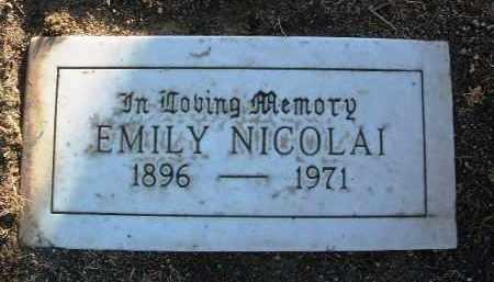 NICOLAI, EMILY - Yavapai County, Arizona | EMILY NICOLAI - Arizona Gravestone Photos