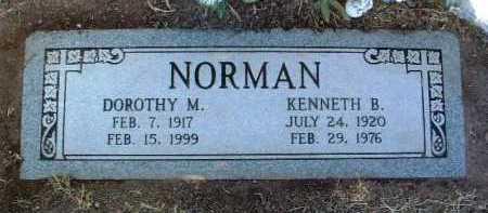 NORMAN, KENNETH B. - Yavapai County, Arizona   KENNETH B. NORMAN - Arizona Gravestone Photos