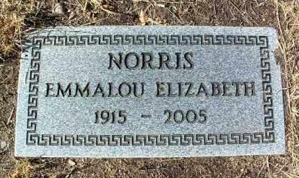 NORRIS, EMMALOU ELIZABETH - Yavapai County, Arizona   EMMALOU ELIZABETH NORRIS - Arizona Gravestone Photos