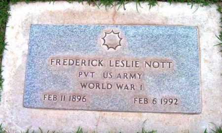 NOTT, FREDRICK LESLIE - Yavapai County, Arizona | FREDRICK LESLIE NOTT - Arizona Gravestone Photos