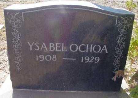 OCHOA, YSABEL - Yavapai County, Arizona   YSABEL OCHOA - Arizona Gravestone Photos