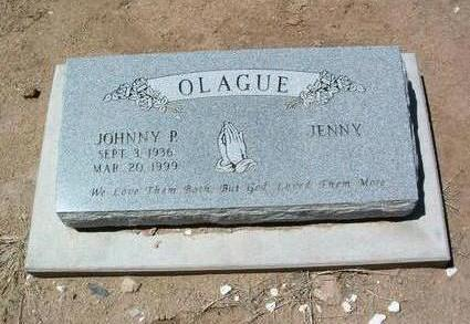OLAGUE, JOHNNY P. - Yavapai County, Arizona | JOHNNY P. OLAGUE - Arizona Gravestone Photos