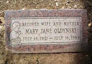 REITZ OLDYNSKI, MARY JANE - Yavapai County, Arizona | MARY JANE REITZ OLDYNSKI - Arizona Gravestone Photos
