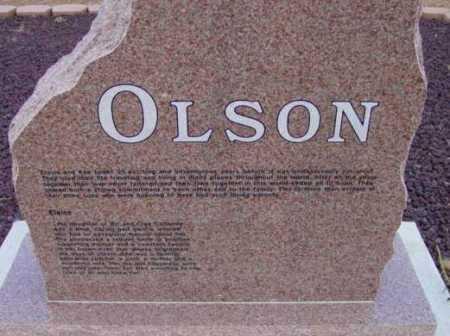 OLSON, FAMILY HEADSTONE - Yavapai County, Arizona | FAMILY HEADSTONE OLSON - Arizona Gravestone Photos