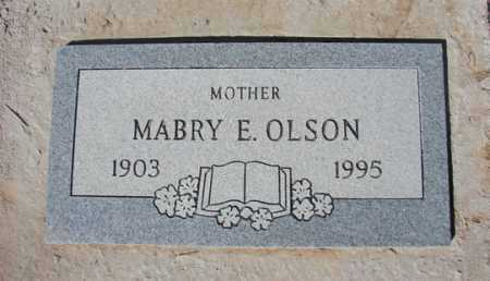 OLSON, MABRY E. - Yavapai County, Arizona | MABRY E. OLSON - Arizona Gravestone Photos