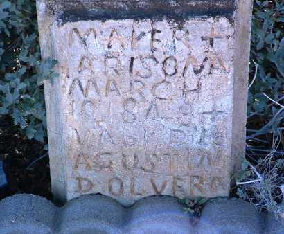 OLVERA, AUGUSTINE R. - Yavapai County, Arizona   AUGUSTINE R. OLVERA - Arizona Gravestone Photos