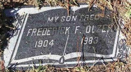 OLZER, FREDERICK F. - Yavapai County, Arizona | FREDERICK F. OLZER - Arizona Gravestone Photos