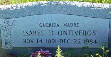 ONTIVEROS, ISABEL D. - Yavapai County, Arizona | ISABEL D. ONTIVEROS - Arizona Gravestone Photos