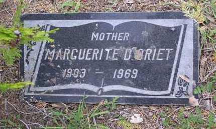 ORIET, MARGUERITE D. - Yavapai County, Arizona   MARGUERITE D. ORIET - Arizona Gravestone Photos
