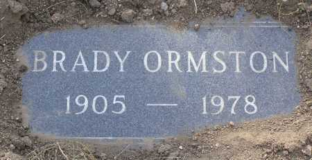 ORMSTON, BRADY W. - Yavapai County, Arizona | BRADY W. ORMSTON - Arizona Gravestone Photos