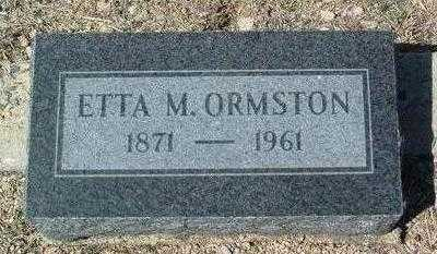 PECK ORMSTON, ETTA MAY - Yavapai County, Arizona | ETTA MAY PECK ORMSTON - Arizona Gravestone Photos